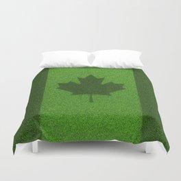 Grass flag Canada / 3D render of Canadian flag grown from grass Duvet Cover