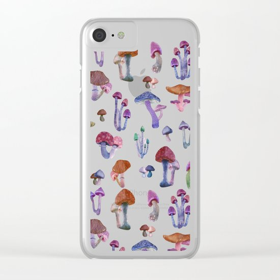 mushrooms Clear iPhone Case