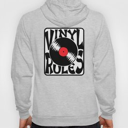 Vinyl Rules Music Quotes Hoody