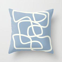 Maze in Gray Blue Throw Pillow