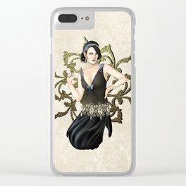 1920s Jazz Siren Clear iPhone Case