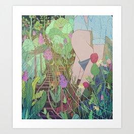 Commuter Garden Art Print