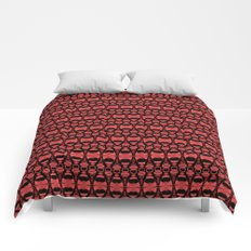 Dividers 02 in Red over Black Comforters