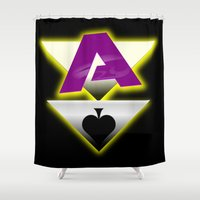 ace Shower Curtains featuring Ace by drQuill