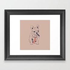 FRENCH BULLDOG BOSS Framed Art Print