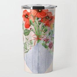 Floral Blocks Travel Mug