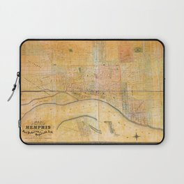 Map of the City of Memphis, Tennessee (1858) Laptop Sleeve