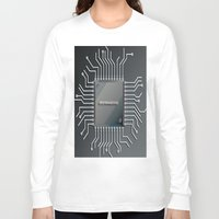 computer Long Sleeve T-shirts featuring Computer Chip by Robin Curtiss