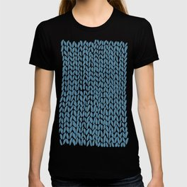 Hand Knit Niagra Blue T-shirt