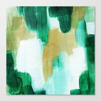 emerald Canvas Prints featuring Emerald by Patricia Vargas