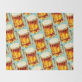 Beer Pattern 2 Throw Blanket