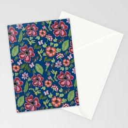 Flores y colobrí azul Stationery Cards