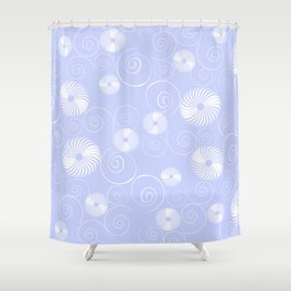 White Spirals Shower Curtain