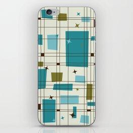 Mid-Century Modern (teal) iPhone Skin