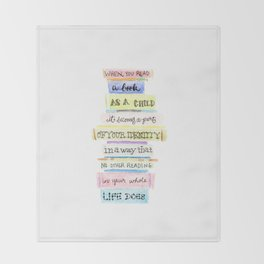 You've Got Mail- Childhood Reading Quote Throw Blanket