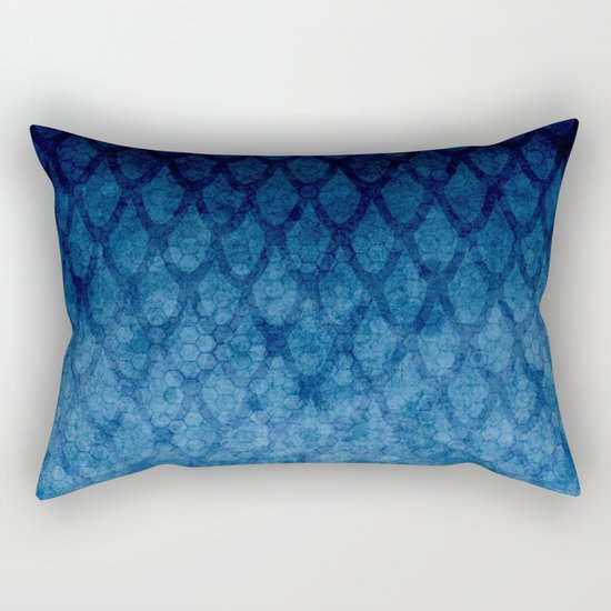 Blue texture Rectangular Pillow