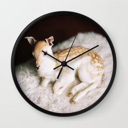 baby deer Wall Clock