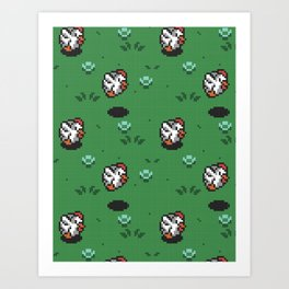 8-bit cucco Art Print