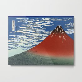 South Wind, Clear Sky (Gaifū kaisei or 凱風快晴) Metal Print