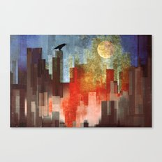 Urban Full Moon Canvas Print