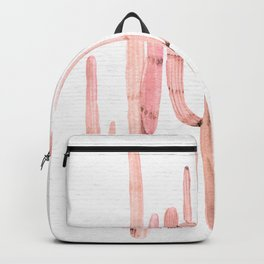 Cactus Trio Pink Watercolor by Nature Magick Backpack