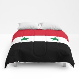 Syrian flag - may PEACE prevail Comforters