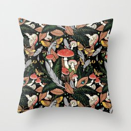 Nocturnal Forest Throw Pillow
