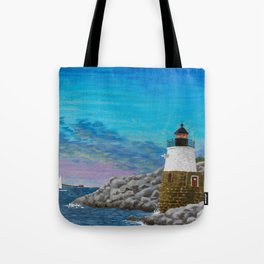 Newport Harbor Lighthouse Tote Bag