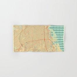 Buenos Aires Map Retro Hand & Bath Towel