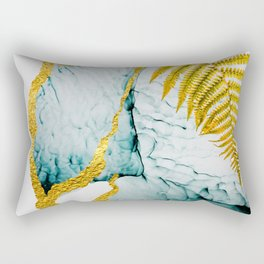 Clouds on the sky Abstract luxurious beauty.  Art and Gold Home decor illustration Rectangular Pillow