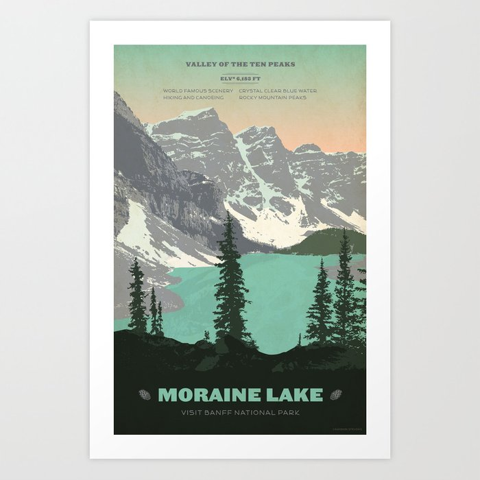 Moraine Lake Poster Kunstdrucke