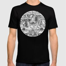 Legend of Zelda - The Three Goddesses of Hyrule Geek Line Artly Mens Fitted Tee LARGE Black