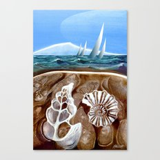 The Geology of Boating Canvas Print
