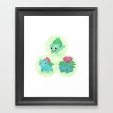 Poké: 1-2-3 Framed Art Print