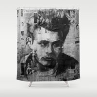 hollywood Shower Curtains featuring Hollywood Rebel  by Adrian Fvtvrvm