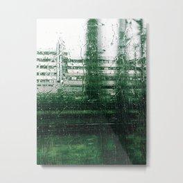Rain Train Metal Print