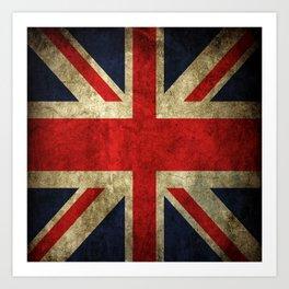 GRUNGY BRITISH UNION JACK  DESIGN ART Art Print