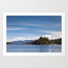 Fannette Island, Lake Tahoe, California Art Print