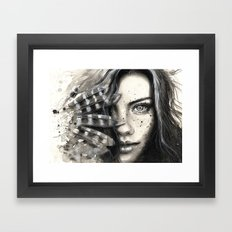 Freckly Framed Art Print