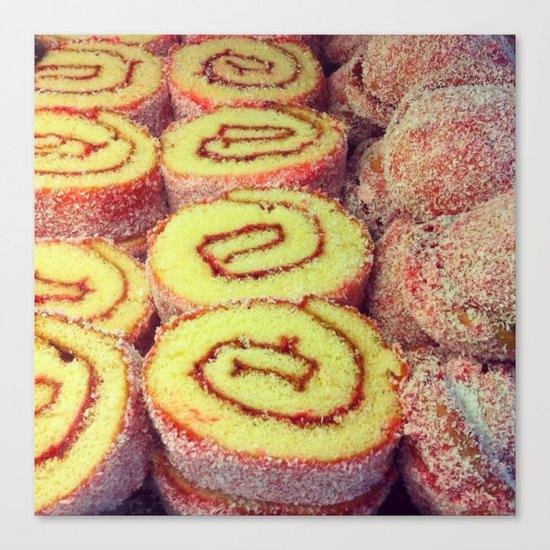 Strawberry Swirl Cakes Canvas Print