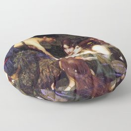 Hylas And The Nymphs John William Waterhouse Floor Pillow