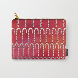 Candy Canes (red) Carry-All Pouch