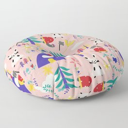 Tortoise and the Hare is one of Aesop Fables pink Floor Pillow