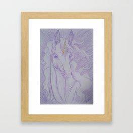Unicorn Oracle 1: Lavender Framed Art Print