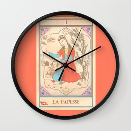 Tarot card-The Popess-The High Priestess-La Papesse Wall Clock