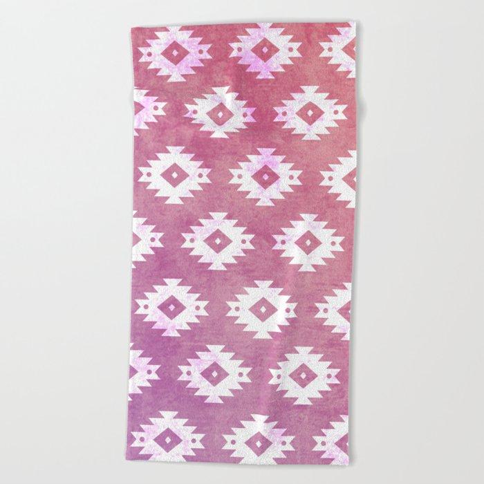Aztec Pattern 10 Beach Towel