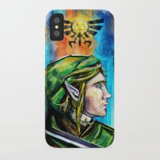 Link from the Legend of Zelda Painting. The Proud Hyrulian Warrior. iPhone X Slim Case