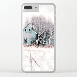 Tattered Curtains Clear iPhone Case