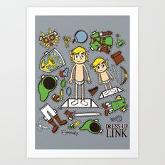Dress up Link Art Print