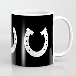 White Horseshoes Coffee Mug